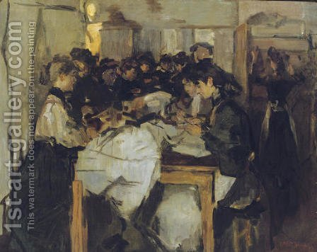 Seamstresses at Atelier Paquin, Paris by Isaac Israels - Reproduction Oil Painting