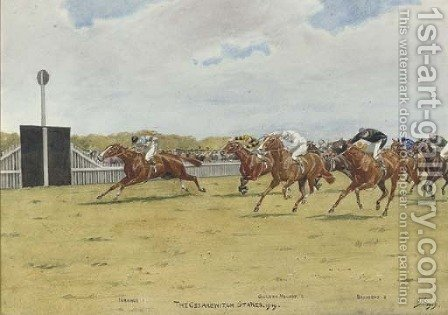 The Cesarewitch Stakes by Isaac Cullin - Reproduction Oil Painting