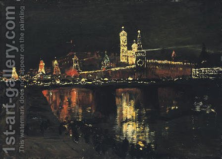 The Illumination of the Kremlin by Isaak Ilyich Levitan - Reproduction Oil Painting