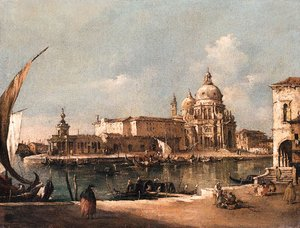 A View of Venice the Entrance to the Grand Canal, with Santa Maria della Salute