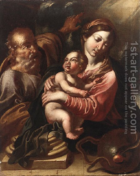 The Holy Family by Italian School - Reproduction Oil Painting