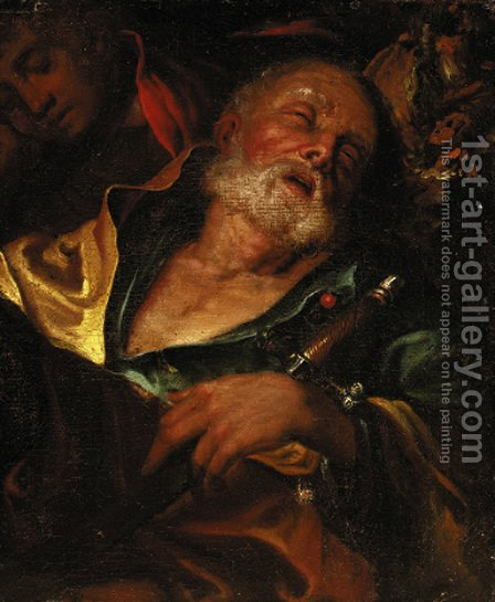 Saint Paul, a fragment by Italian School - Reproduction Oil Painting