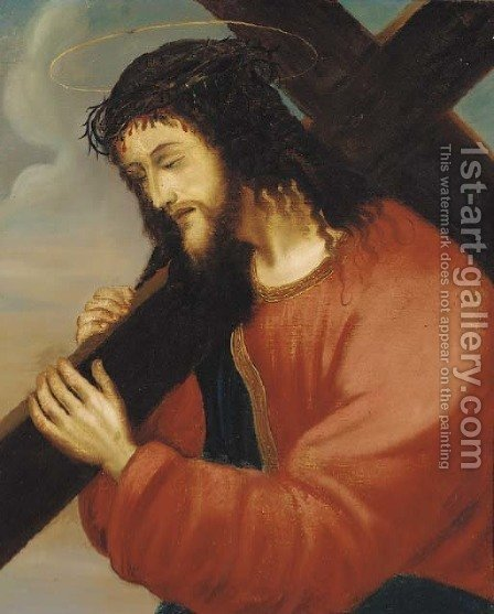 Christ carrying the cross by Italian School - Reproduction Oil Painting