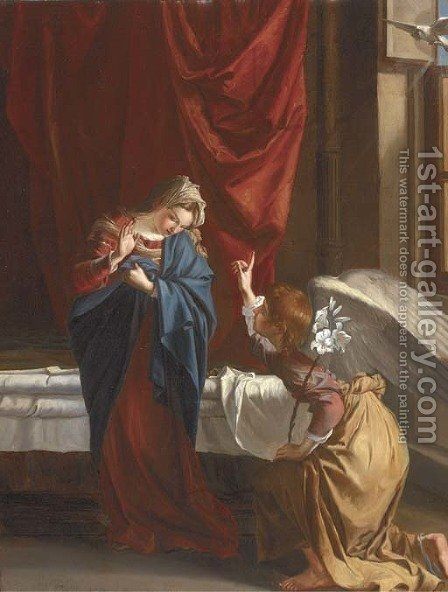 The Annunciation by Italian School - Reproduction Oil Painting