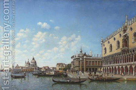 Before the Molo, Venice by Italian School - Reproduction Oil Painting