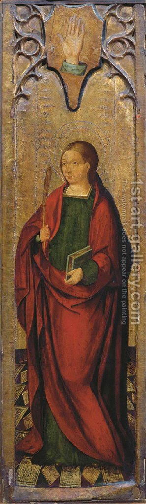 A martyr saint by Italian School - Reproduction Oil Painting
