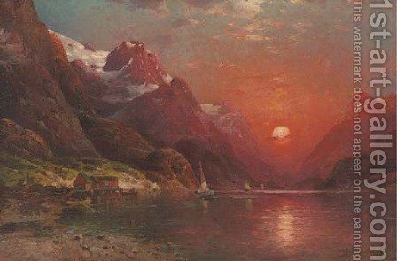 Sunset on the Lake 2 by Ivan Fedorovich Choultse - Reproduction Oil Painting