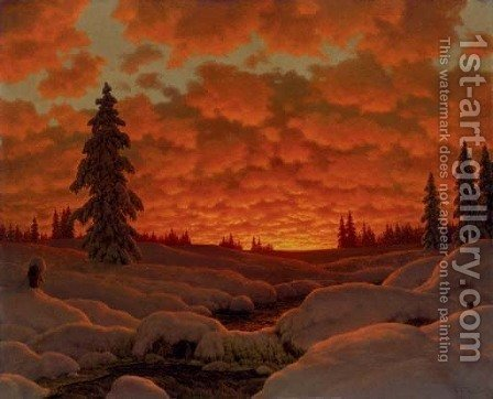 Winter Landscape by Ivan Fedorovich Choultse - Reproduction Oil Painting