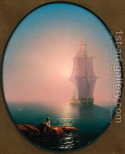Shipwrecked by Ivan Konstantinovich Aivazovsky - Reproduction Oil Painting