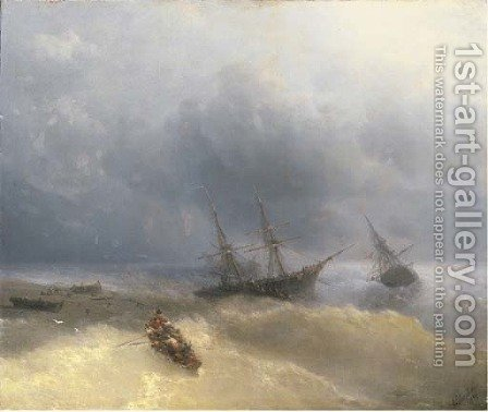 The Shipwreck 3 by Ivan Konstantinovich Aivazovsky - Reproduction Oil Painting
