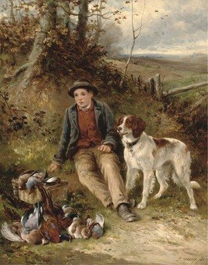 Reproduction oil paintings - James Hardy Jnr - The young beater