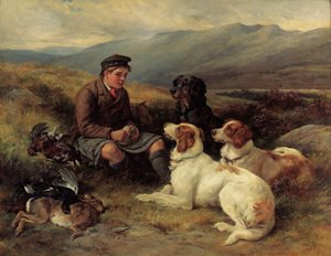 Reproduction oil paintings - James Hardy Jnr - The midday meal on the moors