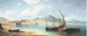 Reproduction oil paintings - James Hardy Jnr - The bay of Naples