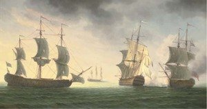 Reproduction oil paintings - James Hardy Jnr - A naval battle