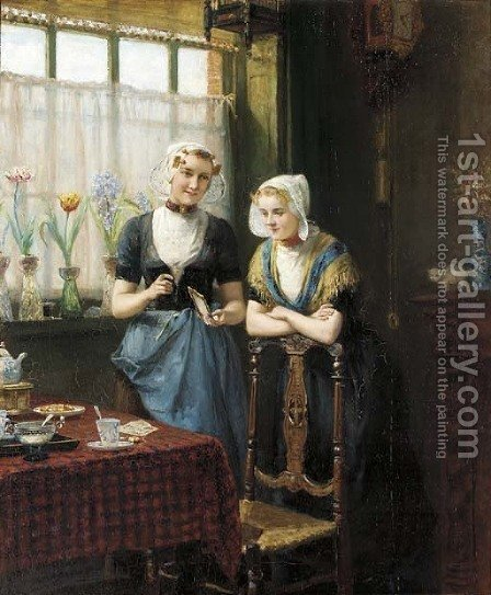 Fond memories by Heyermans - Reproduction Oil Painting