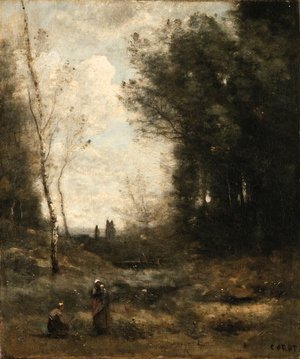 Reproduction oil paintings - Jean-Baptiste-Camille Corot - Le Vallon