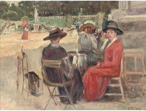Reproduction oil paintings - Joaquin Pallares y Allustante - Elegant company in the park