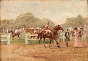 Reproduction oil paintings - Joaquin Pallares y Allustante - At the races