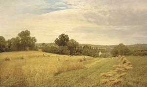 Reproduction oil paintings - John Clayton Adams - Haymaking