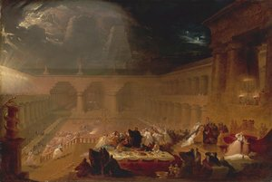 Reproduction oil paintings - John Martin - Belshazzar's Feast 2