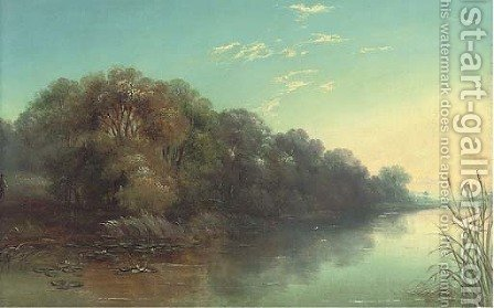 The Thames, near Laleham by J. Mundell - Reproduction Oil Painting
