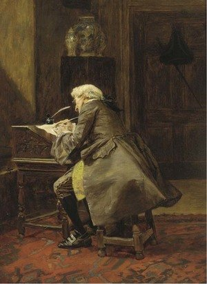 Reproduction oil paintings - John Seymour Lucas - An important letter