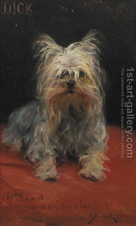Dick - le plus aime des petits chiens by J. Stewart - Reproduction Oil Painting
