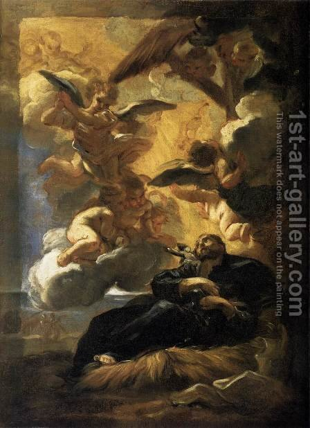 The Vision Of St Francis Xavier 1675 by Baciccio II - Reproduction Oil Painting