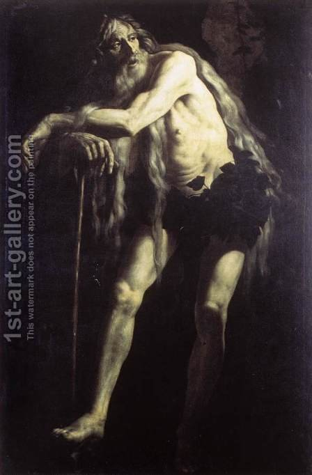 St Onophrius by Giovanni Battista Caracciolo - Reproduction Oil Painting