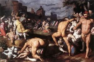 Mannerism painting reproductions: Massacre of the Innocents 1590