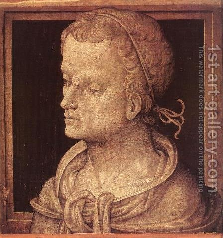 Heroic Head c. 1496 by Amico Aspertini - Reproduction Oil Painting