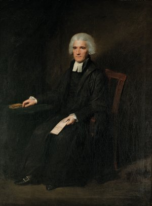 Reproduction oil paintings - Lemuel-Francis Abbott - Portrait of John Grant of Kilgraston (d.1793), full-length, seated, in black gown with white bands, a letter in his left hand