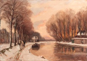 A ship-canal in winter
