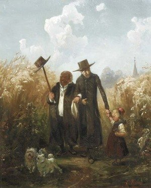 Reproduction oil paintings - Ludwig Knaus - Der Spaziergang