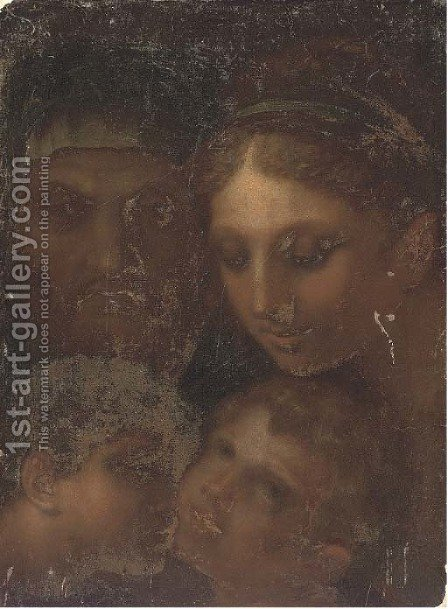 The Madonna and Child with Saint Anne and the Infant Saint John the Baptist by (after) Andrea Del Sarto - Reproduction Oil Painting