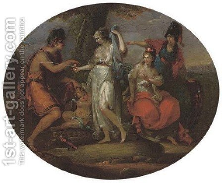 The Judgement of Paris by (after) Kauffmann, Angelica - Reproduction Oil Painting
