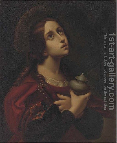 A female saint by (after) Carlo Dolci - Reproduction Oil Painting