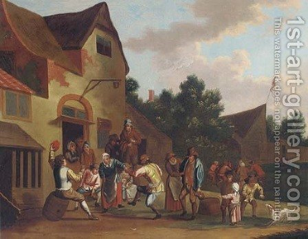 A village kermesse 2 by (after) David The Younger Teniers - Reproduction Oil Painting