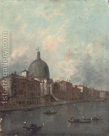 The Grand Canal, Venice by (after) Francesco Guardi - Reproduction Oil Painting