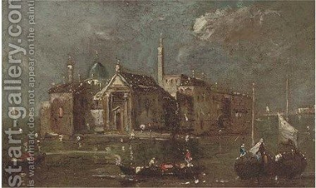 San Giorgio Maggiore, Venice by (after) Francesco Guardi - Reproduction Oil Painting