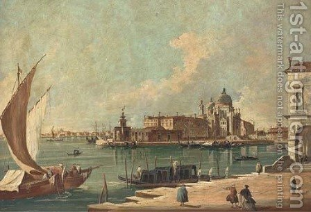 The entrance to the Grand Canal, Venice by (after) Francesco Guardi - Reproduction Oil Painting
