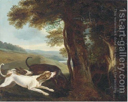 A stag hunt by (after) Frans Snyders - Reproduction Oil Painting