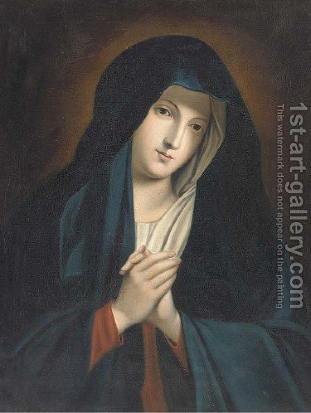 The Virgin at Prayer 2 by (after) Giovanni Battiata Salvi, Il Sassoferrato - Reproduction Oil Painting
