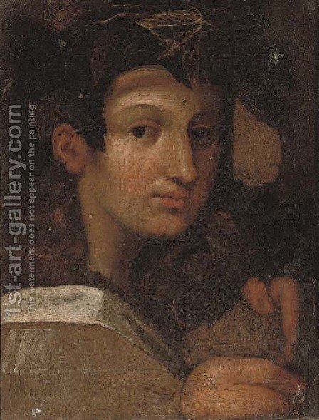 Head of the young Bacchus by Girolamo Francesco Maria Mazzola (Parmigianino) - Reproduction Oil Painting