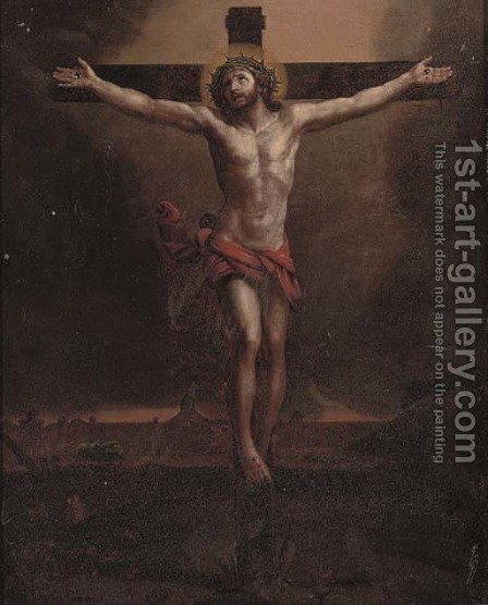 The Crucifixion 3 by (after) Guido Reni - Reproduction Oil Painting