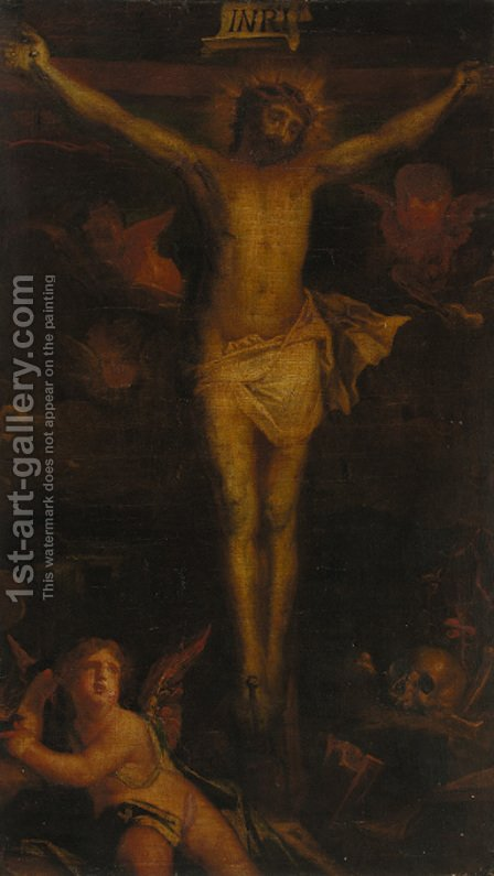 The Crucifixion 4 by (after) Guido Reni - Reproduction Oil Painting