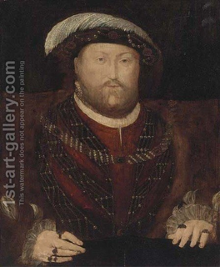 Portrait of Henry VIII (1491-1547) 2 by (after) Hans, The Elder Holbein - Reproduction Oil Painting