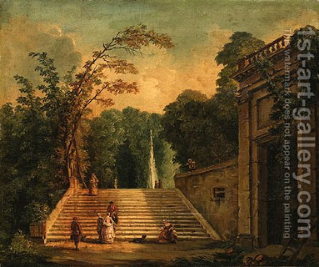 Untitled by (after) Hubert Robert - Reproduction Oil Painting