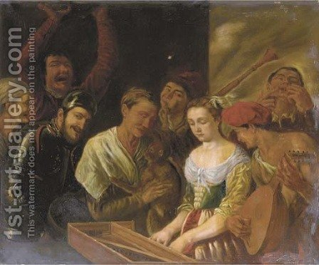 A musical company by (after) Jacob Jordaens - Reproduction Oil Painting
