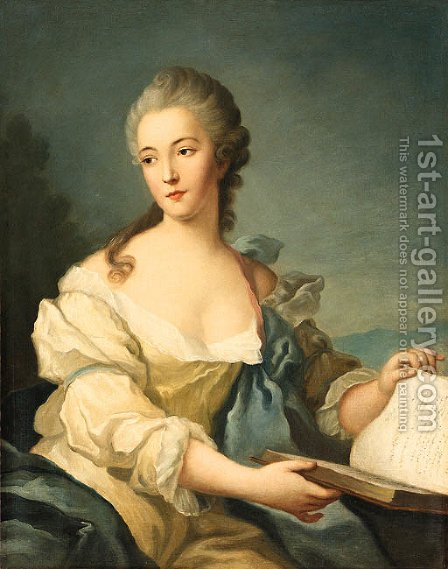 Portrait of a woman by (after) Jean-Marc Nattier - Reproduction Oil Painting